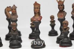 Vintage Anri Mediolanum Bust Chess Set In Box Rare