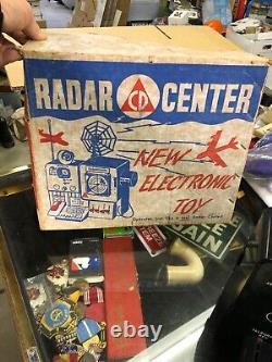 Vintage Centre De Radar De La Défense Civile Jouet Électronique De Guerre Froide #200 W Boîte Rare 1950s