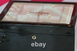 Vintage Et Rare 2005 Pandora Laqué Boîte À Bijoux En Verre Avec Clé 3 Niveaux