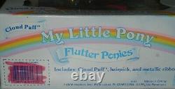 Vintage G1 My Little Pony Flutter Ponies Cloud Puff Dans La Boîte D'origine Très Rare