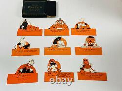 Vintage Halloween Rare Ensemble Partiel (9) De Rustcraft Place Cartes Dans La Boîte Nice