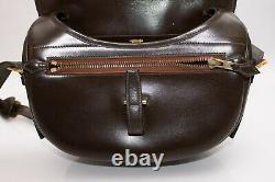 Vintage Hermés Hermes Balle De Golf Box Sac De Veau Dark Brown Gold Hardware Rare