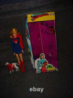 Vintage Ideal Captain Action Homologue Féminine Super Queen Supergirl Withbox Rare