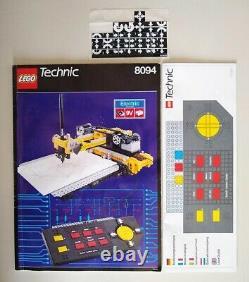 Vintage Lego Technic 8094 Centre De Contrôle Avec 2 Moteurs, Instructions, Boîte, Rare