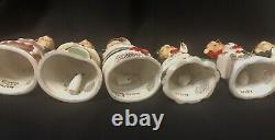 Vintage Nappo Merry Noël Angel Bell Arbre Ornements En Boîte Japon Rare Htf