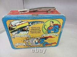 Vintage Publicité 1954 Superman Boîte À Lunch En Étain Rare Trouver G-210