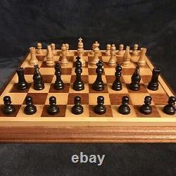 Vintage Rare American Horn Mccrillis Chess Set 2.8 K Boîte Originale