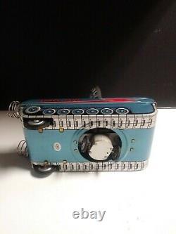 Vintage Rare Jouet Batterie Exploitée Space Tank M-18 Litho Tin Toy Japon Avecboîte D'orige