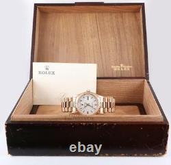 Vintage & Rare Rolex Président 1803 Day-date 18k Rose D'or 1974 / 1975- Boîte / Papier