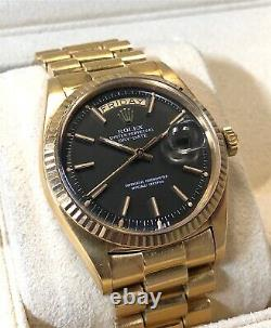 Vintage Rolex Day-date President 36mm 1803 18k Yg Imperial Rare Cadran Gris Withbox