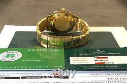 Vintage Rolex Submariner 16618 18k Yg Rare Lapis Lazuli Cadran Avec Card Box & Rsc