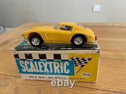 Vintage Scalextric C69 Ferrari 250 Gt En Jaune, Avec Lumières, Boîte, Très Rare
