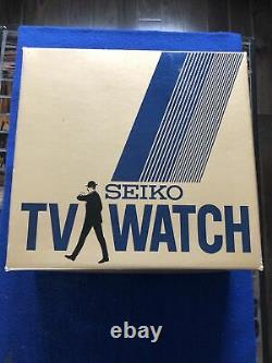 Vintage Seiko Tv Watch T001-5019 Lcd/lvd Hommes James Bond Octopussy Watch Rare