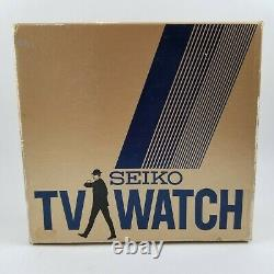 Vintage Seiko Tv Watch T001-5019 Lcd/lvd Hommes James Bond Watch Rare Voir Vidéos