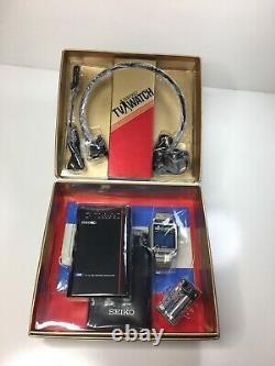 Vintage Seiko Tv Watch T001 LCD Hommes James Bond Montre Rare Original