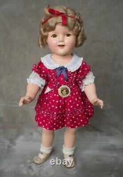 Vintage Shirley Temple Composition Doll 1930 18 Très Rare Boîte Originale