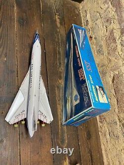 Vintage Tin Daiya Batterie Actionnée Boeing 2707 Sst Working & Box Rare Pan Am Nos