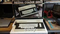 Vintage Vintage Color Génie Eg2000 Système Informatique Eg2000 (vgc Boxed)