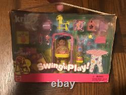 Vtg 01 Mattel Barbie Bébé Soeur Krissy Swing N Jouer Nouveau Dans La Boîte! Rare