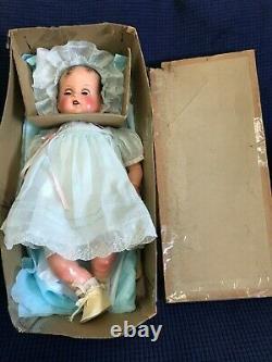 Vtg 1940s New Wbox Idéal Bébé Beau Miracle 34ème St 16 Doll Rare Robe Bleue