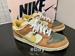 Vtg 2005 Nike Sb Dunk Low Pro Vapors Mineral Yellow Size 11 Rare Pink Box