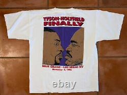 Vtg 96 Rare Mike Tyson Holyfield Mgm Grand Collectable Boxe Chemise Rap Tee XL
