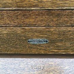 Vtg H. Gerstner 31 Makers Motif Coffre À Outils Boîte Poignée En Cuir, X-longue, Rare