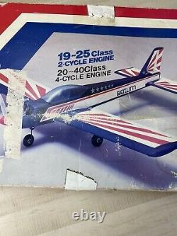 Vtg Rare Ez RPM Saturn 20l En Boîte Rtf Arf 20-25 Classe Moteur Pas De Kit Rc Manuel