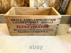 Vtg. Rare Winchester Super W Speed 28ga 6 Cartouches De Pistolet Shot Munitions Caisse / Boîte